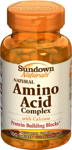 Sundown Amino Acid Complex, 100 Tablets (Pack of 4)