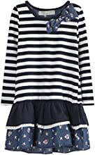 Richie House Little Girls39 Sweet Striped Dress with Layered Bottoms Size 1-6 Rh0263
