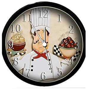 glow in the dark wall clock fat chef