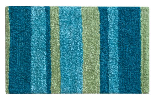 Perfect InterDesign Kandi Stripe Rug, Blue/Green Review
