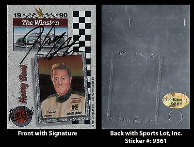 harry-gant-signed-1990-nascar-the-winston-series-maxx-trading-card-sl-authentic