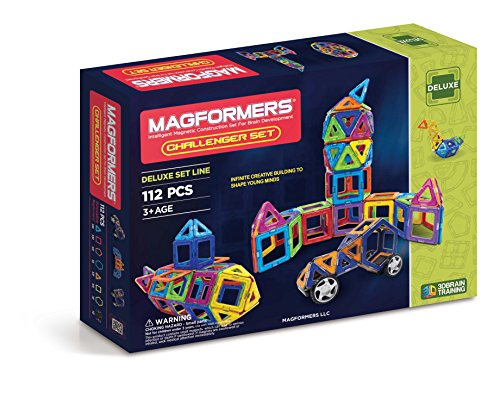 맥포머스 112피스 챌린저 세트 Magformers Challenger Set (112-pieces),Assorted