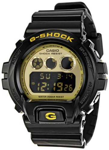 g shock 6900 classic black gold one size g shock