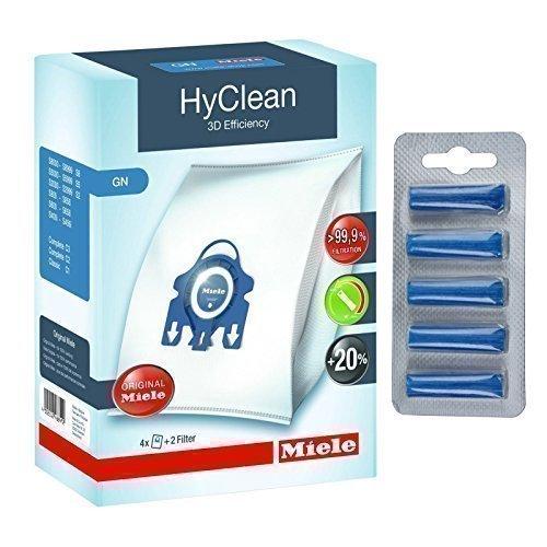 Original GN HyClean 3d Effizienz Staubsaugerbeutel für Miele Vakuum Reiniger + Gratis Lufterfrischer
