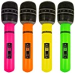 4 Inflatable Microphone Party Accesso...