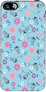 Snoogg Bee Flower Pattern Designer Protective Back Case Cover Forapple Iphone...