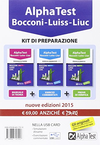 Alpha Test Bocconi Luiss Liuc Kit di preparazione Con USB card PDF