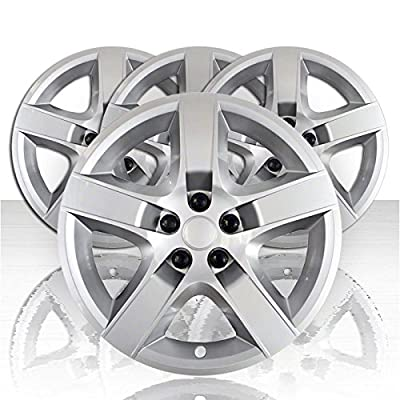 "Set of Four 17"" Silver ABS Wheel Covers for 2007-2010 Pontiac G6 (Bolt-on)"