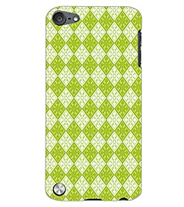 PrintDhaba GREEN SQUARE PATTERN D-6719 Back Case Cover for APPLE IPOD TOUCH 5 (Multi-Coloured)