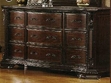 South Yorkshire Solid Wood Brown Cherry Finish Bedroom Dresser
