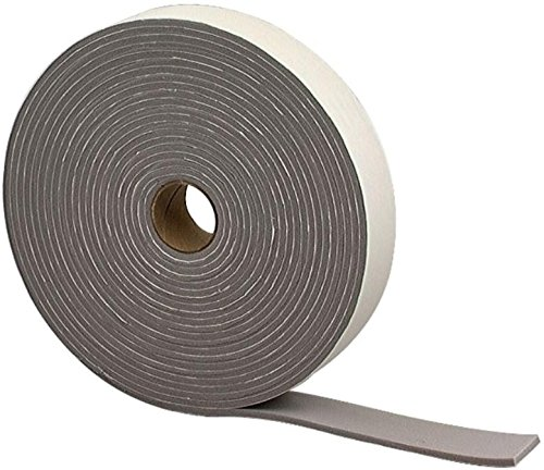 """3M Foam Insulation Tape. Seal and Insulate Camper Tops, Windows, Doors, Boats, AC Units, an More! Size: 3/16"""" x 1.25"""" x 30'. 30 Feet of Black Insulated Tape."""