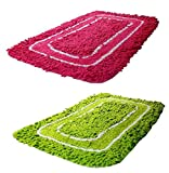 Online Quality Store Luxurious Drawing Room Attractive Door mats set of 2 (Multi, 16*24,Cotton)