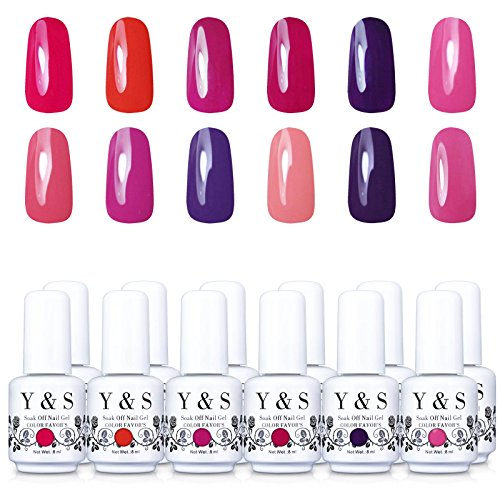 Yaoshun-Gel-PolishSoak-Off-Gel-Nail-polish-8ml-12pcs-Lacquer-UV-LED-Nail-Art-Kit-of