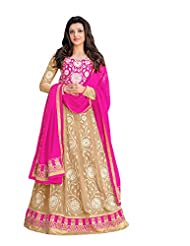 Aarti Saree Trendy Fashionable Green And Beige Straight Suit With Heavy Embroidery Work - B019XTQ6Y2