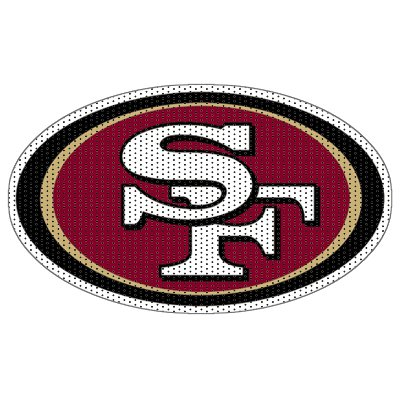 "NFL San Francisco 49ers 12"" Unobstructed View Die Cut Car Window Film at Amazon.com"