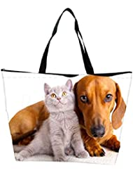 Snoogg Best Friends Designer Waterproof Bag Made Of High Strength Nylon