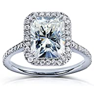 Radiant-cut Moissanite & Diamond…
