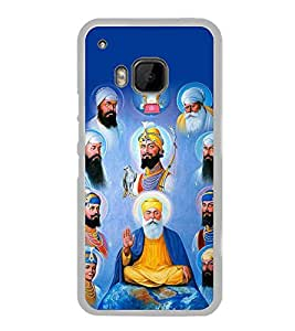 Sikh Gurus 2D Hard Polycarbonate Designer Back Case Cover for HTC One M9 :: HTC One M9S :: HTC M9 :: HTC One Hima