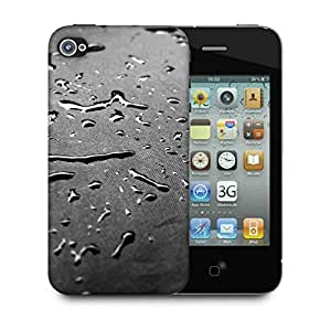 Snoogg Drops Texture Designer Protective Back Case Cover For Apple Iphone 4
