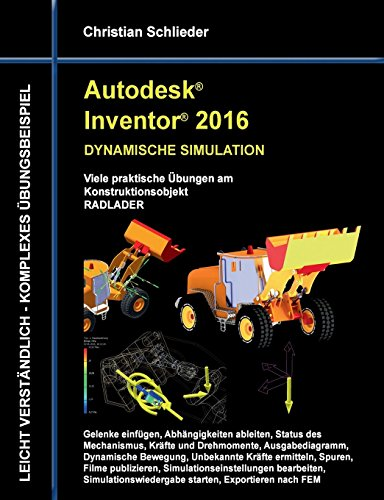 Autodesk Inventor 2016 - Dynamische Simulation  [Schlieder, Christian] (Tapa Blanda)