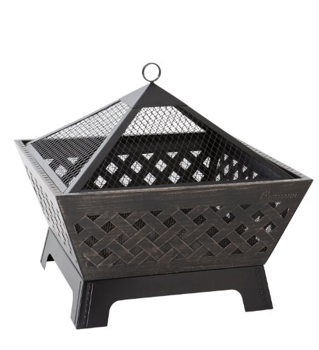 Landmann 25282 Barrone Fire Pit with Weatherproof Cover