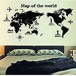Docooler® World Map Profile Blac...