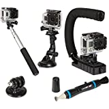 Sunpak ACTION-5 Action Camera Accessory Kit (Black)
