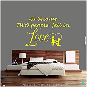 DeStudio In Love Wall Decal, Size XXL & Color YELLOW
