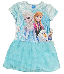 Disney Frozen Elsa the Snow Queen, Anna, and Olaf Youth Tutu Dress Costume