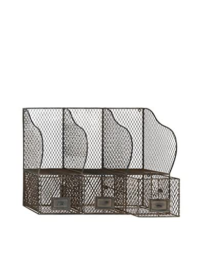 Deco 79 Metal Wire Wall Organizer with Compartments, Multi