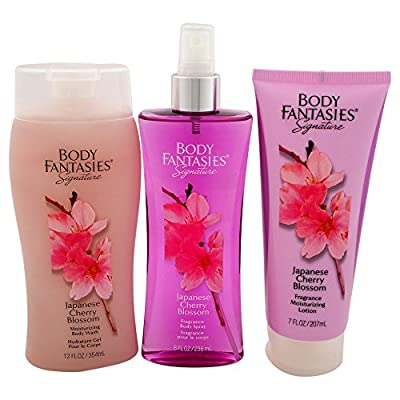 Body Fantasies Signature Japanese Cherry Blossom 3 Piece Gift Set for Women
