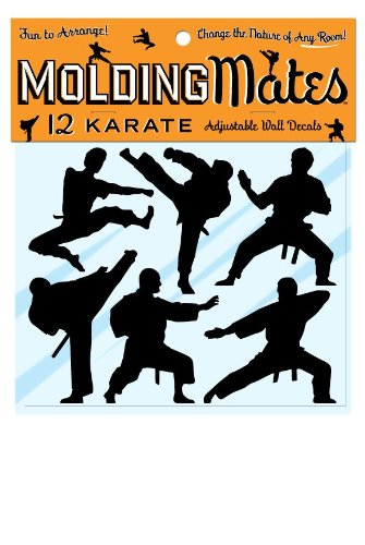 Molding Mates Action Karate 12 Molding Mates Home Decor Peel And Stick Vinyl Wall Decal Stickers
