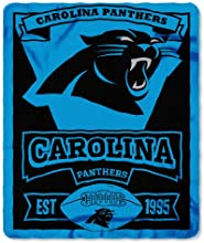 NFL Carolina Panthers Marque Printed Fleece Throw, Black, 50 x 60""