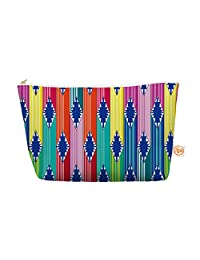 "Kess In House Everything Bag Tapered Pouch By Anneline Sophia ""Blanket"" Rainbow Tribal, 12.5 X 7 Inches (As1009..."