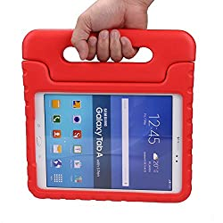 Eastchina®| Samsung Galaxy Tab a 9.7 Inch Tablet Light Weight EVA Stand Case, Shock Proof Handle Stand Case Super Protection Cover for Samsung Galaxy Tab a 9.7 Inch Sm-t550 Sm-p550 Tablet (Red)