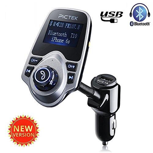 Pictek Bluetooth Trasmettitore FM per Auto Chiamate Hands-free MP3/WMA/WAV con TF Card per iPhone SE iPhone 6s Plus 6 / Samsung Galaxy S6/ S6 Edage/ S7/ S7 Edage Tables