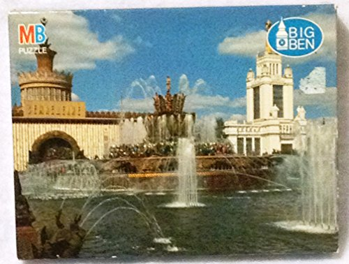 Big Ben 1000 Piece Puzzle- Stone Flower Fountain-Moscow, Russia