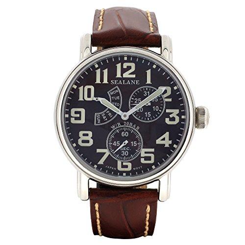 [シーレーン]SEALANE 腕時計 SE14 シリーズ (ブラウン) 牛本革ベルト ウォッチ SE14-BR 国内正規品