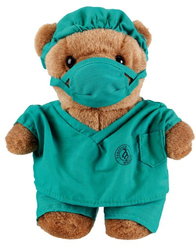 Doctor Teddy Bear In Green Surgeon Scrubs (Doctor Bear compare prices)