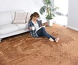 なかね家具 洗える フランネルカーペット 大判サイズ ホットカーペット カバー 長方形 カーペット レンガ調 ラグカーペット 江戸間4.5畳(261x261) ブラウン 217kuramixi