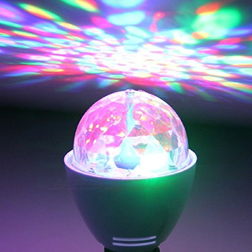 3W 3 Leds Stage Lights Rgb Crystal Magic Ball Rotating Lamp For Disco Dj Party Us Plug