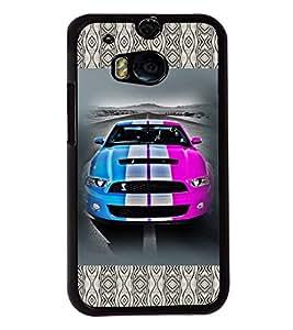Fuson 2D Printed Car Designer back case cover for HTC One M8 - D4144