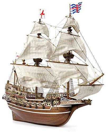 輸入木製帆船模型キット アークレー OC13004 HMS リベンジ 和訳付属(60分の帆船模型製作入門DVD)