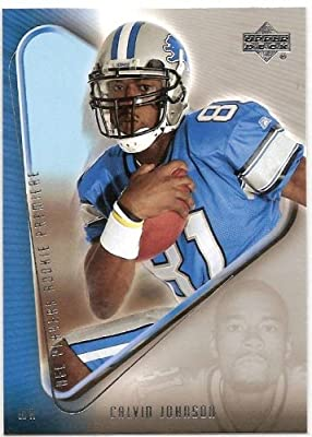 2007 Upper Deck NFL Players Rookie Premiere 15 # Calvin Johnson (RC) - Detroit Lions - Football Card - Mint Condition- Shipped in protective display case!!