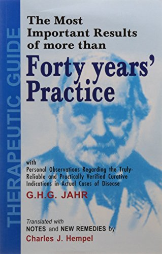The Most Important Results of More Than Forty Years' Practice: 1