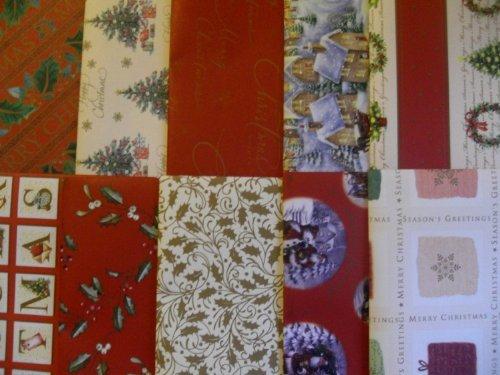 10 fogli di carta da regalo natalizia TRADIZIONALE