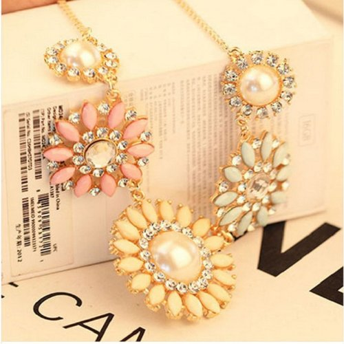 Best TPT Rhinestone Necklace Jewelry Colorful