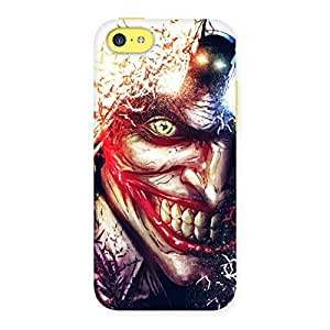 Crazy Insanity Multicolor Back Case Cover for iPhone 5C