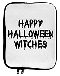 Happy Halloween Witches 9 x 11.5 Tablet Sleeve - White Black