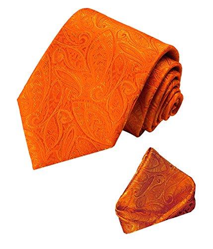 LORENZO CANA - Marken Set 100% Seide Orange Paisley